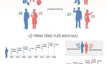 Tuổi nghỉ hưu của lao động nam, nữ từ ngày 1-1-2021